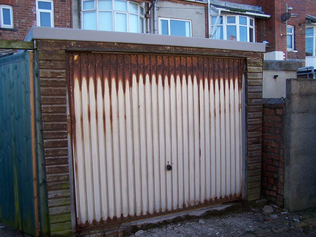 Garage Door Near Gynn Square Looking The Worse For Wear