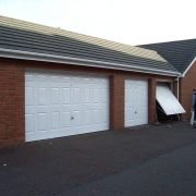 Double garage door after refurbishment