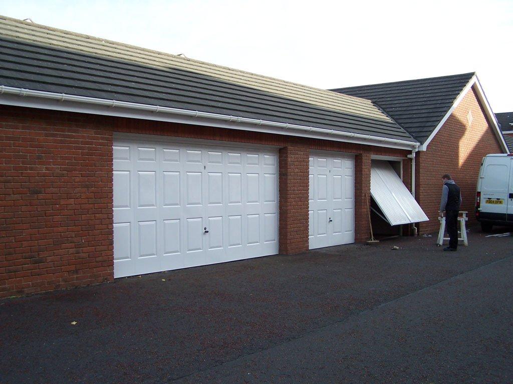 Double garage door after refurbishment