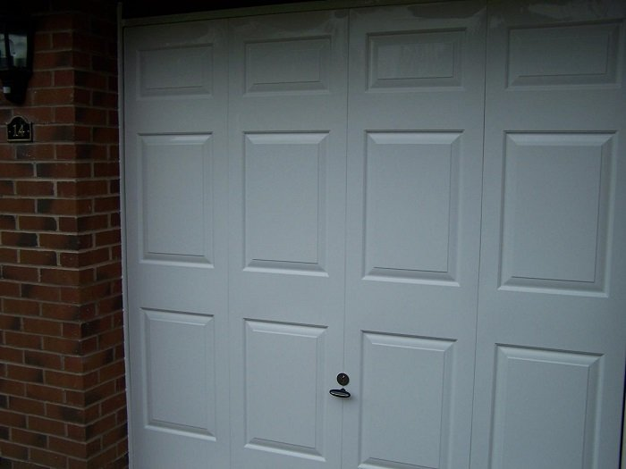Freckleton Garage door after ABS fascia makeover