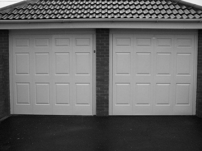 Blackpool Steel garage door after ABS Revampz fascia upgrade