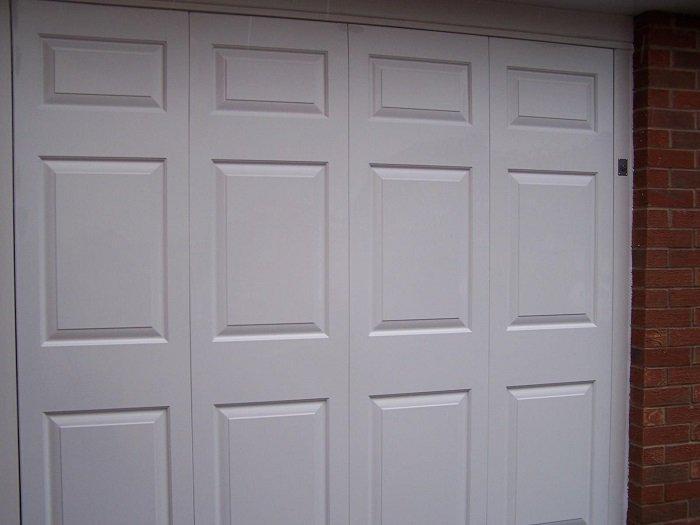Blackpool Steel garage door after ABS Revampz fascia upgrade – close up